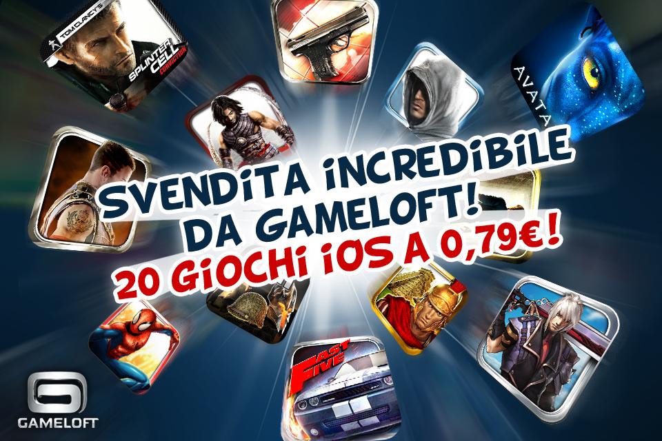 Svendita Gameloft: 20 titoli disponibili a 0.79€