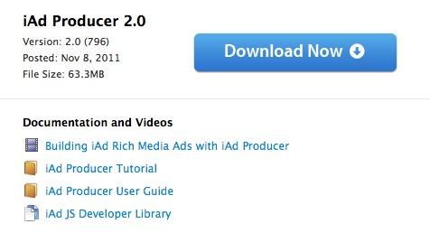 Apple rilascia iAd Producer 2.0