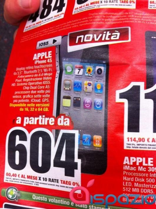 Da Mediaworld Iphone 4s 16gb A Soli 604 U20ac