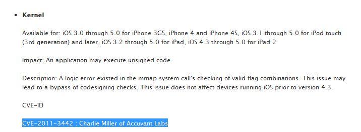 iOS 5.0.1: Apple ufficializza che la falla di sicurezza scoperta da Miller è stata corretta