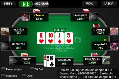 Pokerstars Mobile Poker: l'app dell'omonimo sito arriva anche in versione italiana