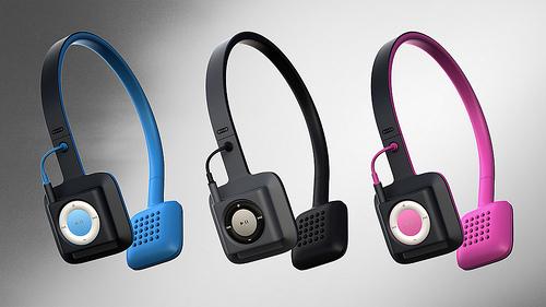 """Product Design cerca fondi per ODDIO1, le cuffie che """"integrano"""" l'iPod Shuffle"""