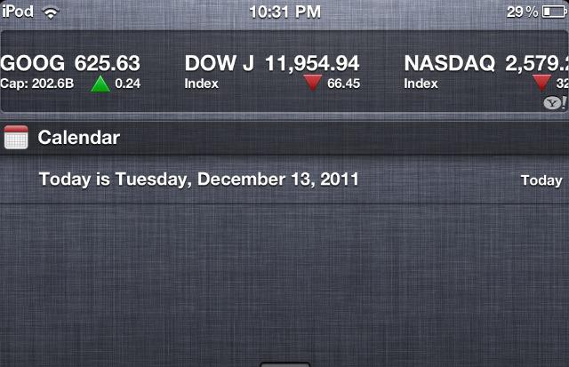 Aggiungiamo la data odierna al Centro Notifiche di iOS 5 | Guida [Mac]