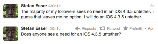 I0nic sta lavorando inspiegabilmente al jailbreak untethered di iOS 4.3.5