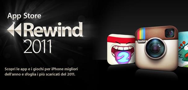 App Store Rewind 2011, scopriamo le migliori applicazioni dell'anno scelte da Apple