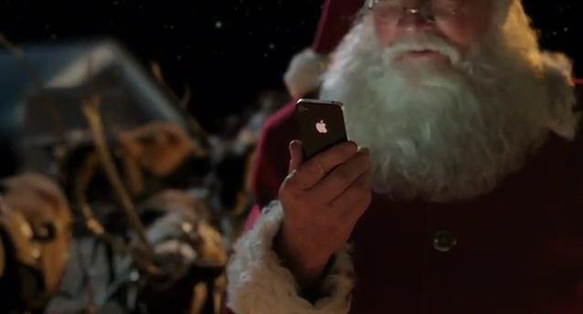 babbo natale iphone 4s spot apple -ispazio