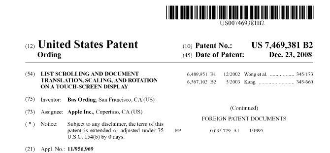 Nokia ed IBM acquistano la licenza per utilizzare il brevetto sullo scrolling di Apple