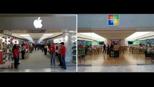 Microsoft inizia a clonare gli Apple Store