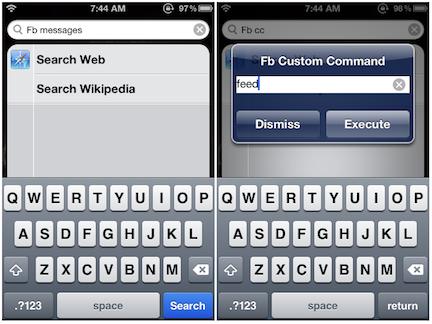 SpotFB: gestione di facebook anche da spotlight | Cydia