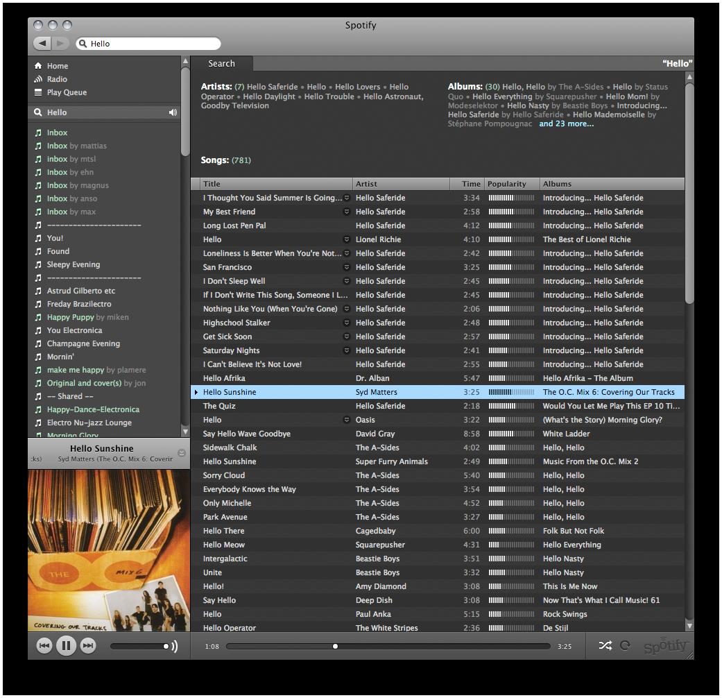Panoramica di Spotify