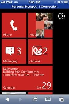 Provare Windows Phone 7.5 Mango con iOS? Da oggi è possibile