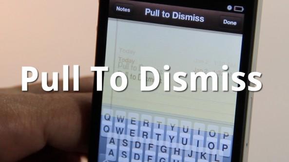 Pull To Dismiss: nascondi rapidamente la visualizzazione della tastiera | Cydia