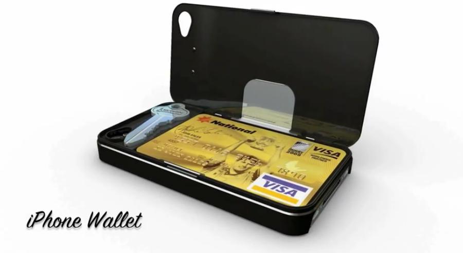 custodia iphone 4s portafoglio