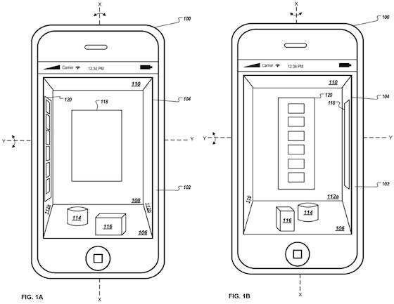 Apple brevetta un'interfaccia grafica 3D per i prossimi dispositivi iOS