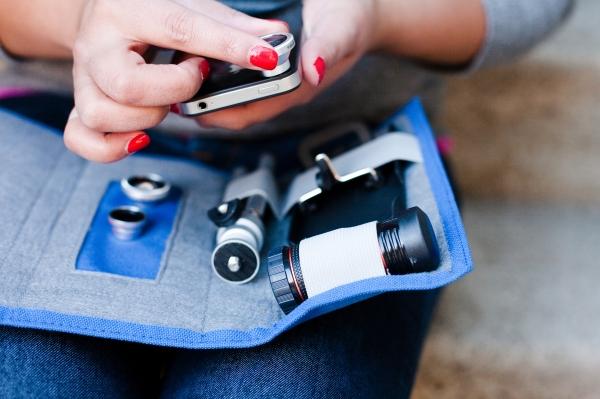 Manteniamo ordinate le nostre lenti fotografiche per iPhone, con la custodia Photojojo