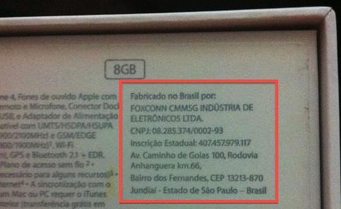 I primi iPhone 4 prodotti in brasile vengono commercializzati, ma il prezzo di fabbricazione rimane alto