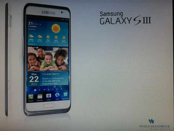 Samsung Galaxy S III: prima immagine rubata e possibile data di lancio