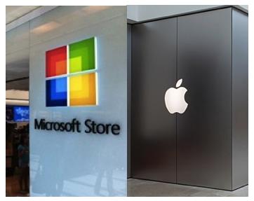 Le differenze tra un Microsoft Store e un Apple Store? Ecco una piccola comparazione