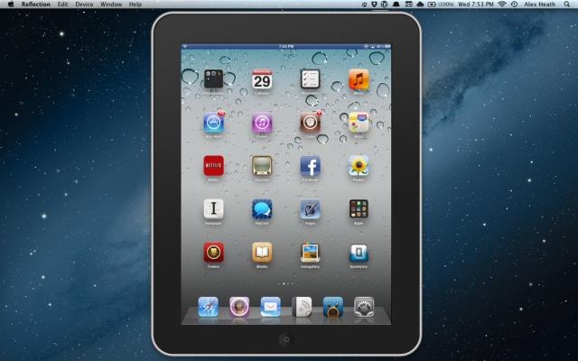 Reflection usa l'AirPlay per duplicare lo schermo dell'iPhone 4S e dell'iPad 2 sul display del Mac [Video]