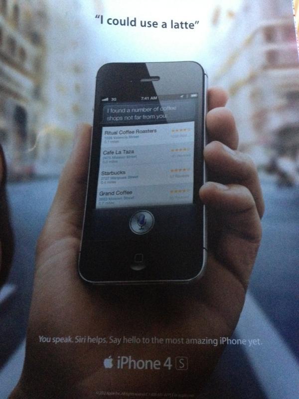 L'assistente vocale Siri pubblicizzato sulla famosa rivista Rolling Stone