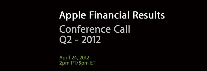 Apple effettuerà una Conference Call il 24 Aprile per annunciare i risultati finanziari del Q2