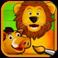 Savana – Puzzle e Disegni da Colorare degli Animali: tanti puzzle per i nostri piccoli | QuickApp