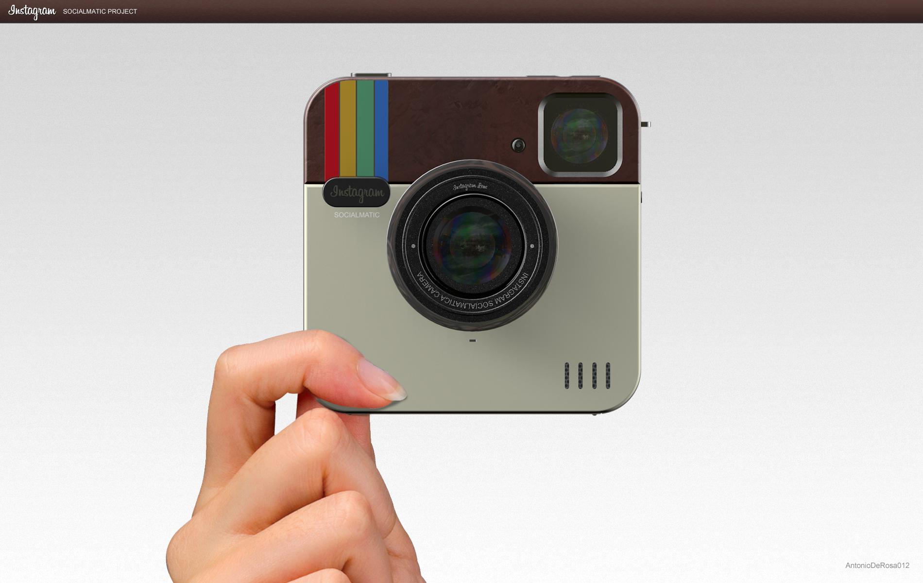 Ecco la fotocamera Instagram Socialmatic Camera, la digitale del noto socialnetwork | Concept [VIDEO]