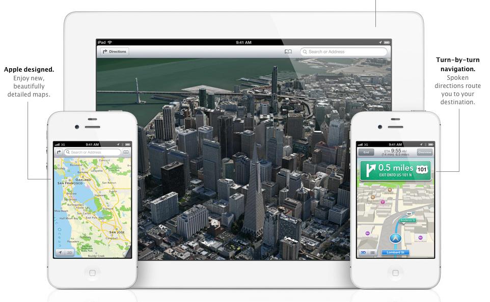 Attiviamo le mappe 3D su iPhone 4, 3GS e iPod touch con iOS 6 jailbroken