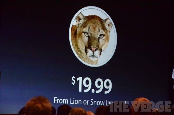 Mountain Lion al WWDC 2012 con tantissime novità: in arrivo a Luglio a 19,99$ [AGGIORNATO CON COMUNICATO STAMPA]