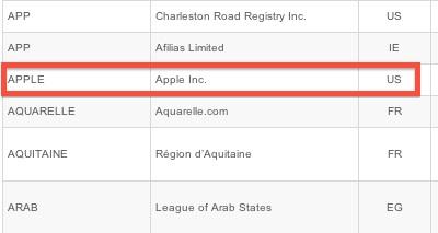 """Apple vuole adottare """".apple"""" come dominio principale"""