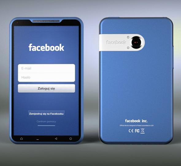 Facebook Phone: un bel concept dell'ipotetico smartphone progettato da Zuckerberg