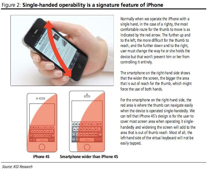 Il prossimo iPhone sarà ancora utilizzabile completamente con una sola mano