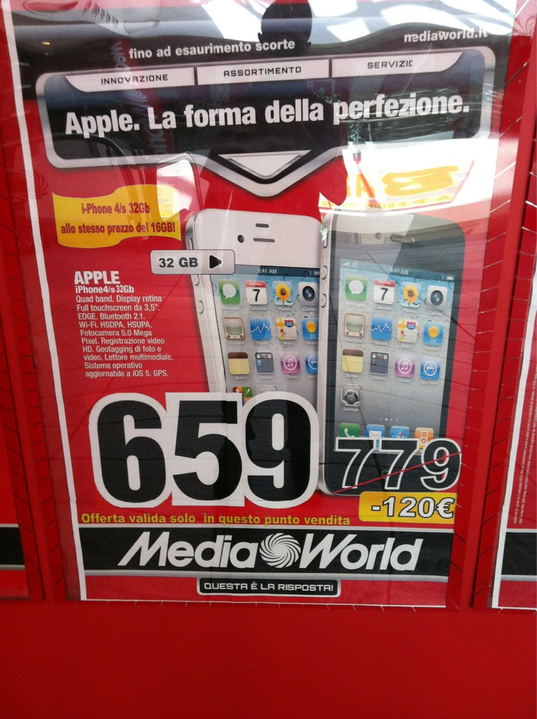 Iphone 5 16gb prezzo mediaworld
