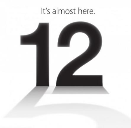 UFFICIALE: L'iPhone 5 verrà presentato il 12 Settembre! Ecco l'invito di Apple