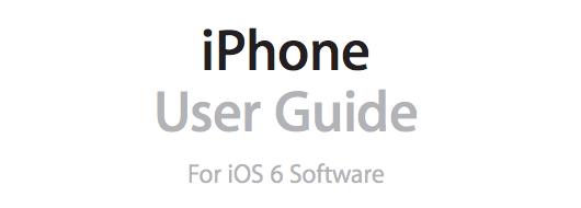 Apple pubblica il Manuale Utente iPhone per iOS 6