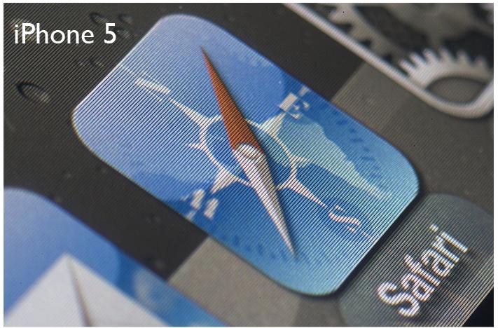 Un'analisi al microscopio conferma la maggiore qualità dello schermo dell'iPhone 5 rispetto ai precedenti