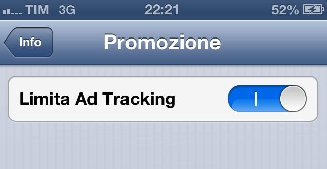 Incrementiamo la nostra privacy con iOS 6: come disabilitare l'Ad Tracking