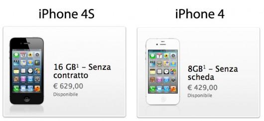 Apple riduce il prezzo dell 39 iphone 4s e dell 39 iphone 4 sul for Costo per costruire sul proprio lotto