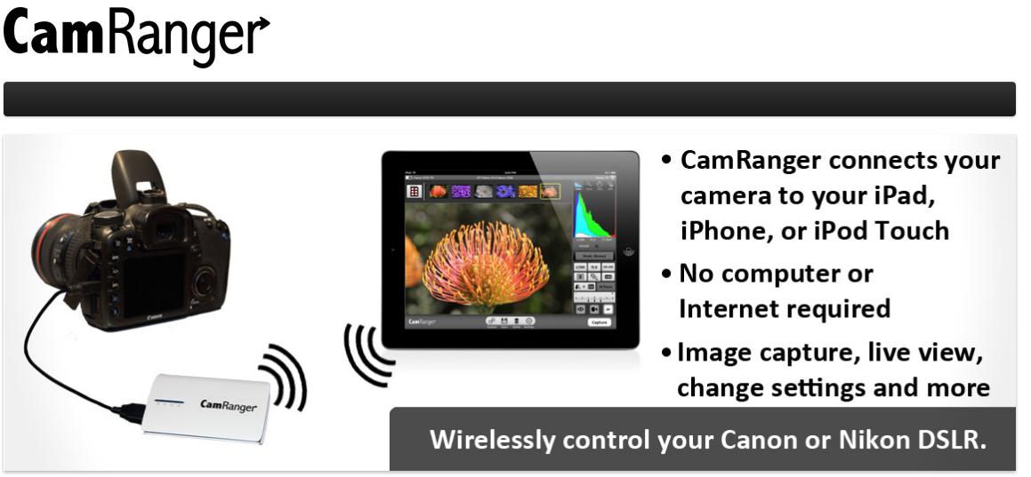 CamRanger: l'accessorio per controllare reflex Canon e Nikon da iOS [Video]
