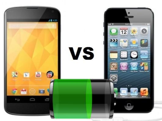 iPhone 5 vs Nexus 4: durata della batteria a confronto