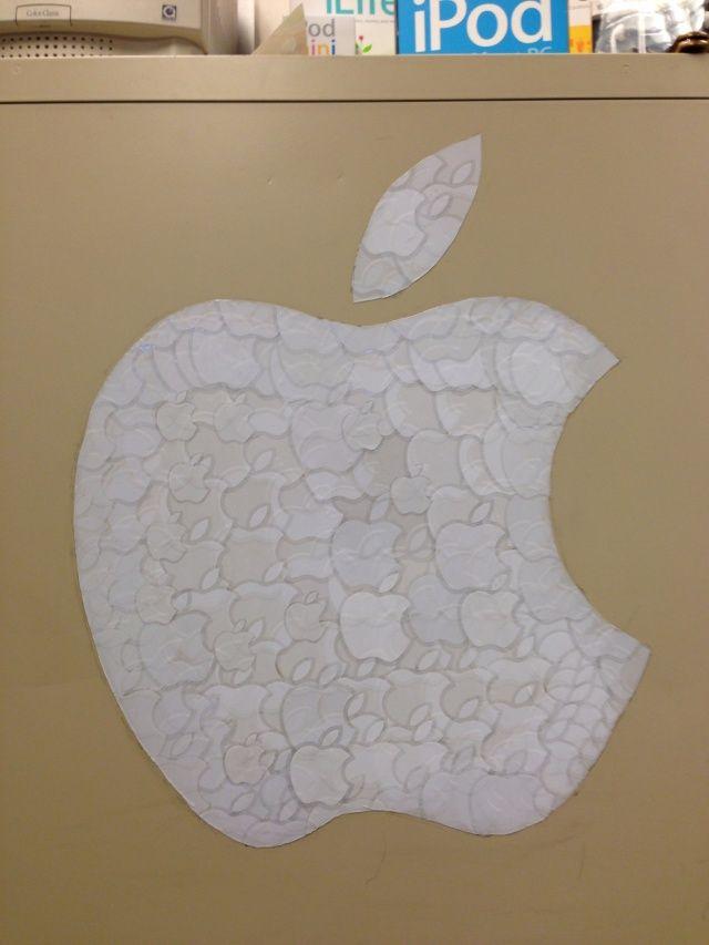 apple logo sticker - ispazio