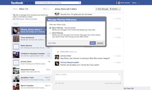 filtri facebook
