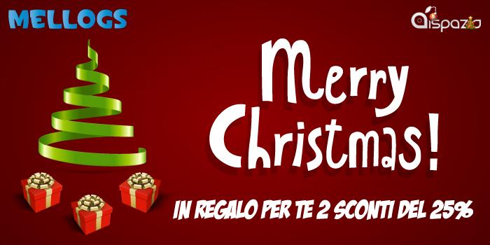 Mellogs.eu augura Buon Natale a tutti gli utenti di iSpazio ed offre 2 sconti del 25%