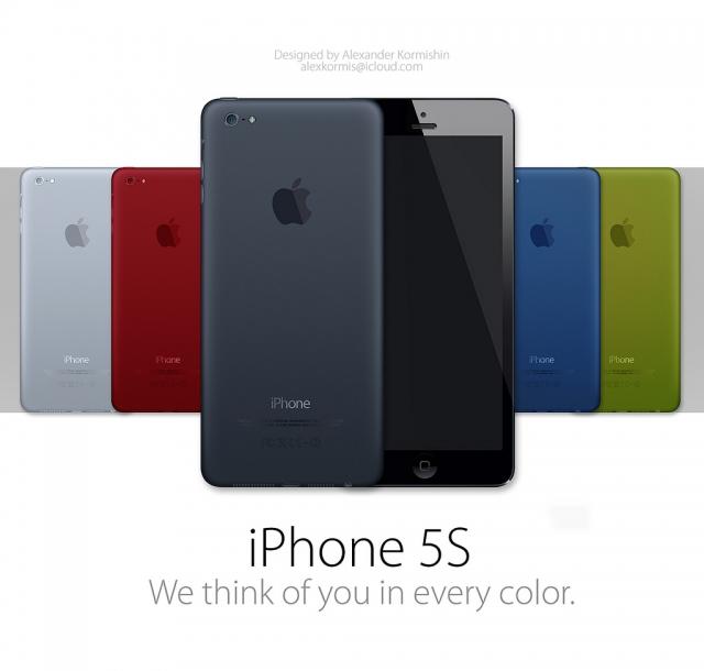 Ecco iPhone 5S: simile all'iPad Mini e disponibile in tanti colori | Concept