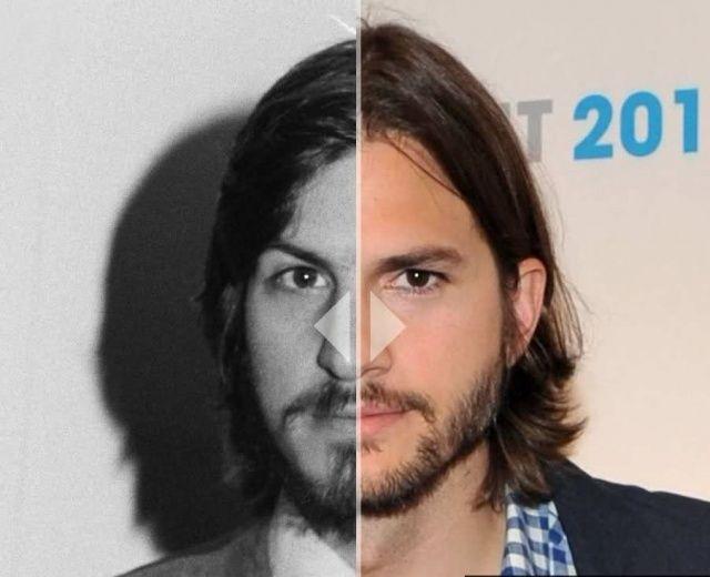 Ecco nuove immagini di Ashton Kutcher confrontate con quelle di Steve Jobs: ci assomiglia?