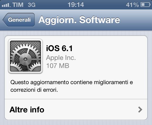 iOS6.1 è l'aggiornamento installato più velocemente nella storia di Apple