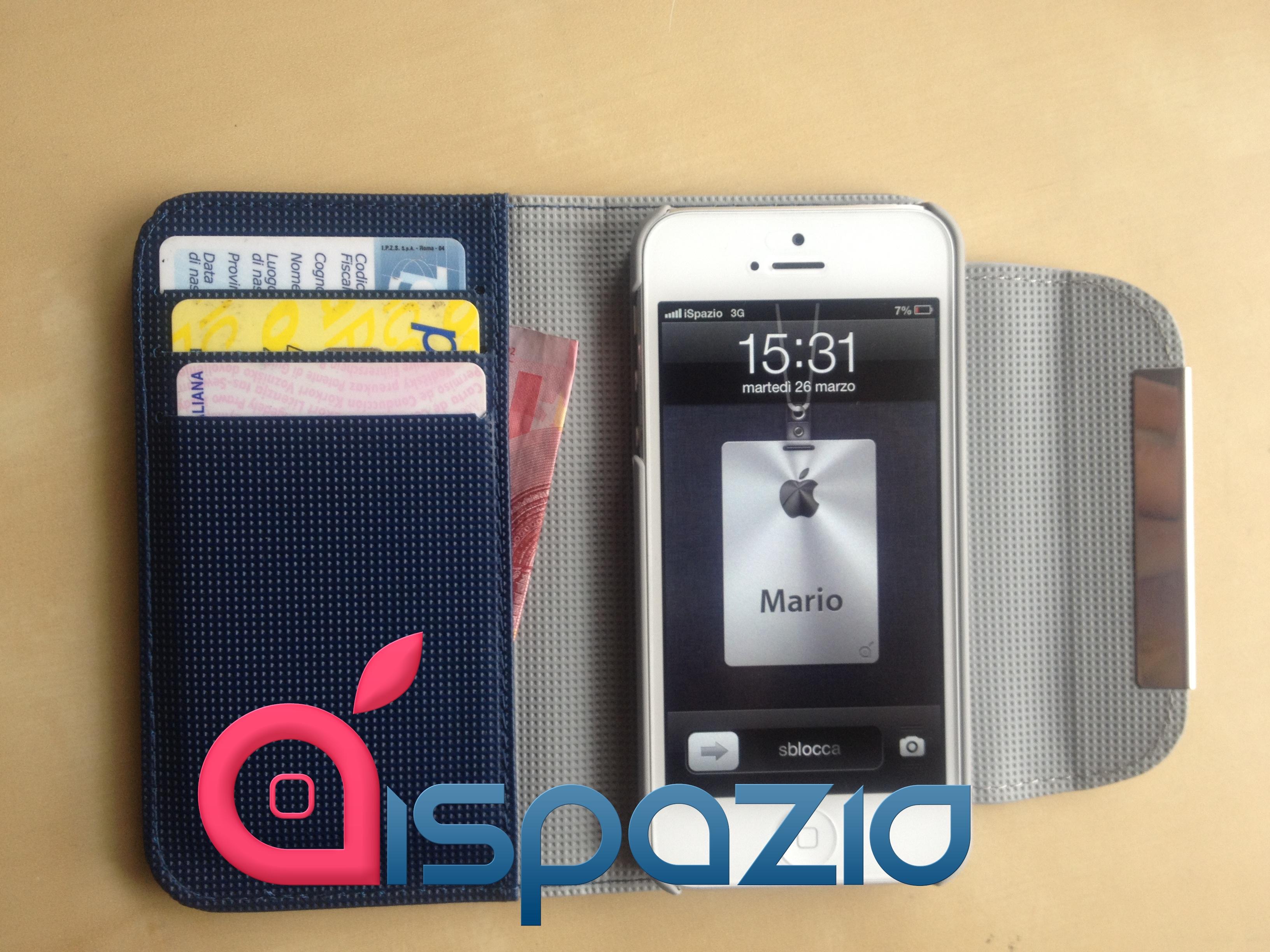iphone 5s custodia portafoglio
