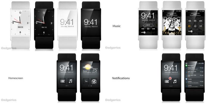 Nuovo concept dell'orologio intelligente iWatch: e se fosse così?