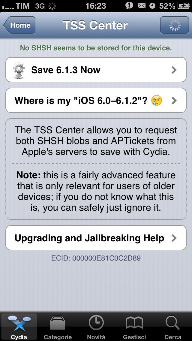 Tutti i certificati SHSH di iOS 6.0/6.1.2 sono stati persi: da oggi sarà impossibile effettuare un downgrade dei propri dispositivi iOS jailbroken!