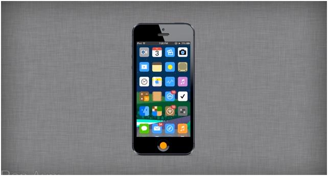 iFlat: la grafica 2D per iPhone con iOS 7 | Concept [VIDEO]